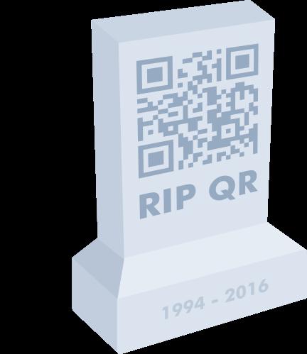 QR code tombstone