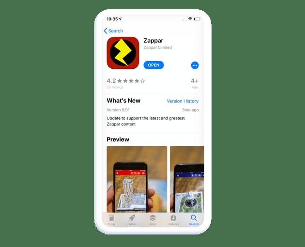 Zappar app store