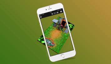 3D Forest Golem Business card