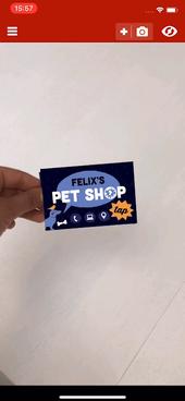 Pet Shop Business Card